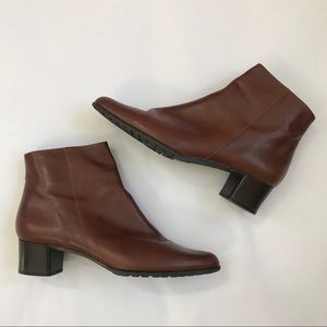 {Bandolino} Brown Leather Booties Boots Size 10